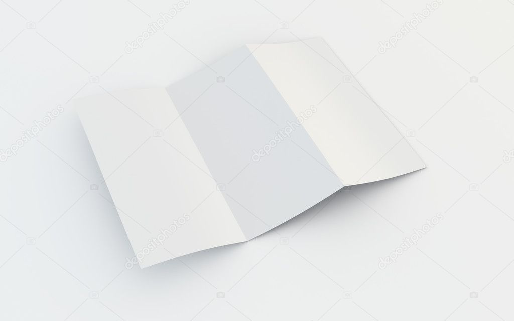 3d rendering of a blank brochure  Stock Photo #8283273