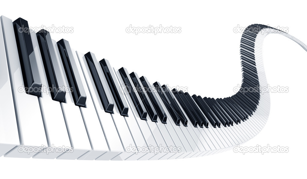 3d rendering of wavy piano keys — Stock Photo #8283431