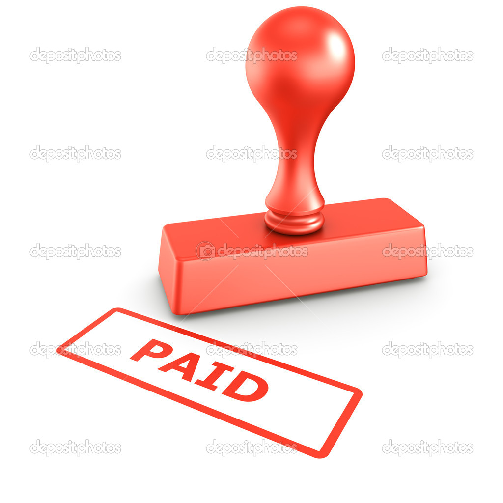 Paid Stamp Image Paid stamp - stock image