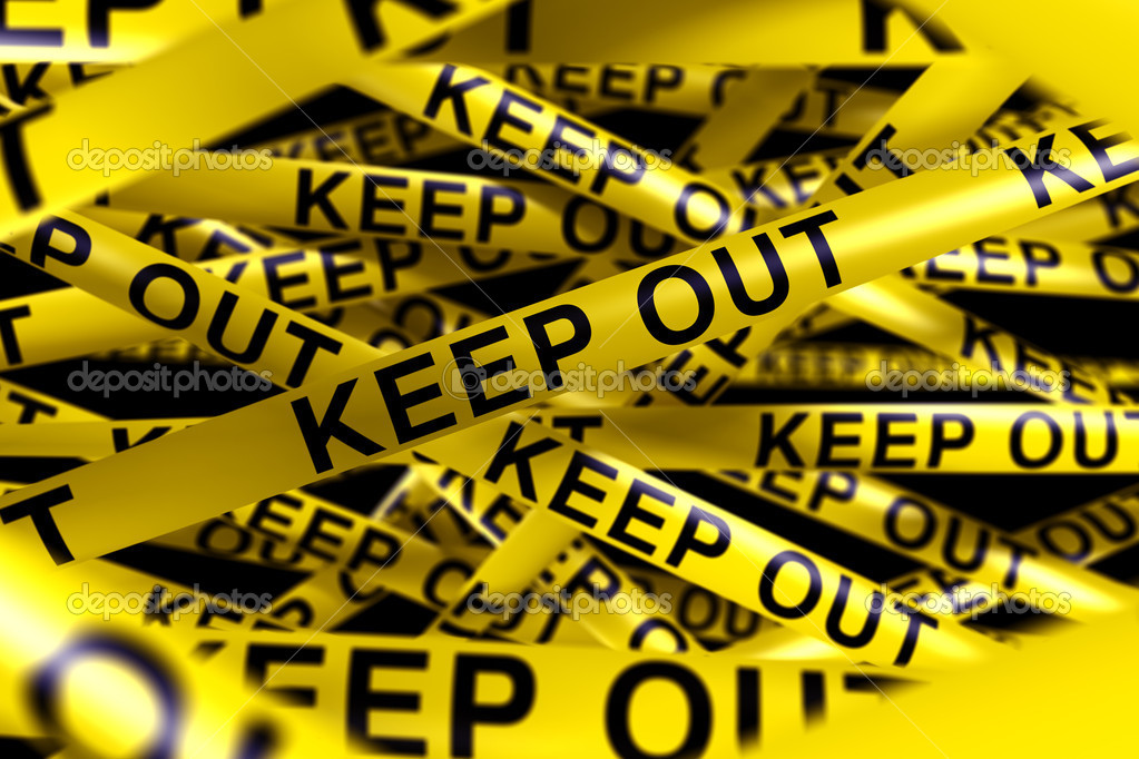 Caution tape with KEEP OUT on it — Stock Photo © zentilia ...