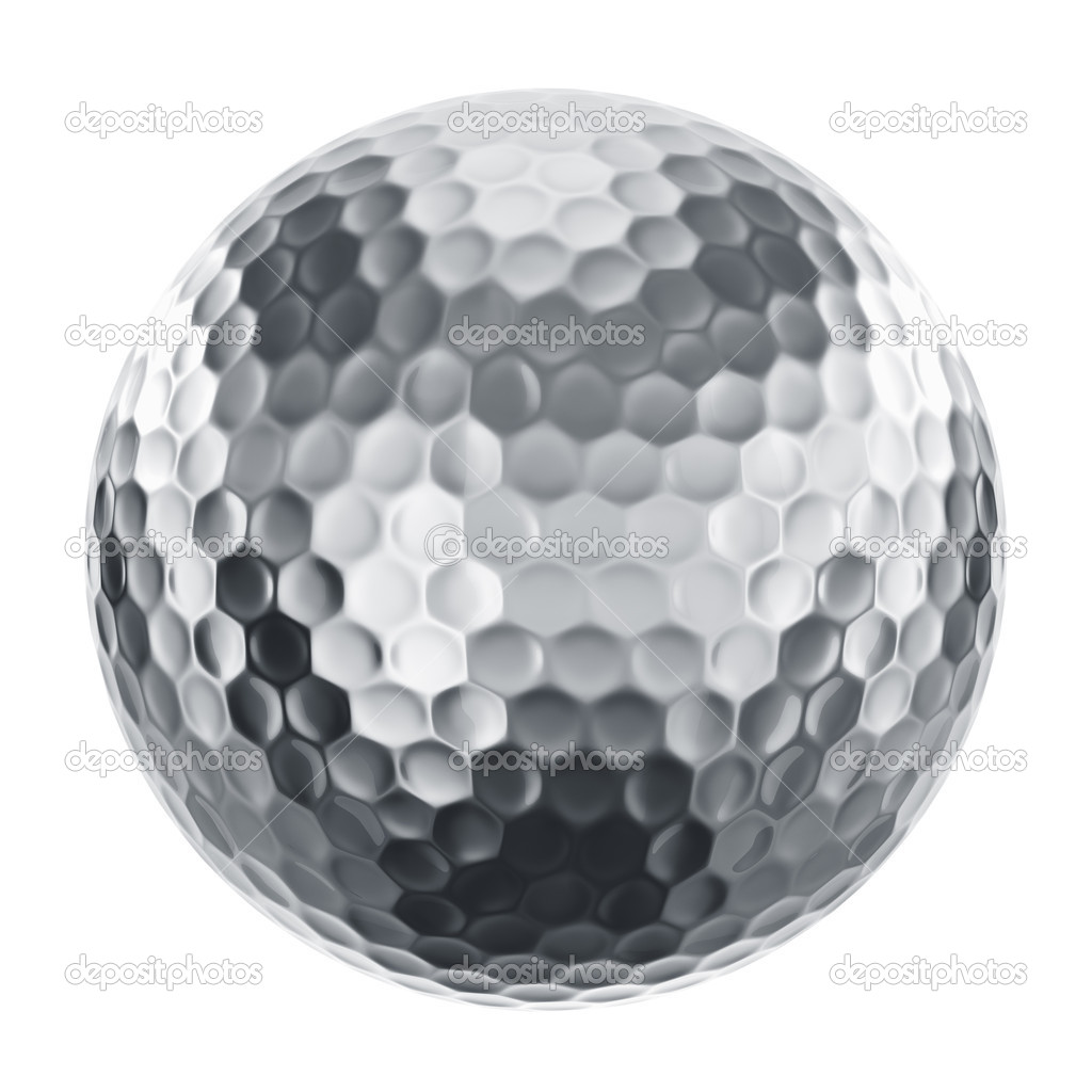 3d rendering of a golfball in silver — Stock Photo #8284420