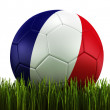 Soccerball in grass — Stock Photo #8292236