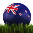 Soccerball in grass — Stock Photo