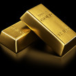 Two gold bars — Stock Photo
