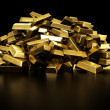 Stock Photo: Pile of gold bars