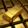 Stacked gold bars — Stock Photo #8292445