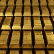 Stock Photo: Stacked gold bars