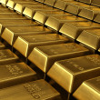 Stacked gold bars — Foto Stock