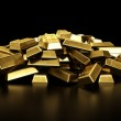 Pile of gold bars — Stock Photo