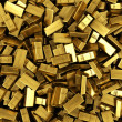 Stock Photo: Scattered gold bars