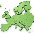 Royalty-Free Stock Photo: Euro map