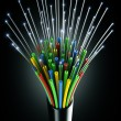 optic fiber cable — Stock Photo