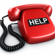 Stock Photo: Call for help