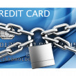 Padlocked credit card - Stock Photo