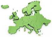 Euro map — Stock Photo