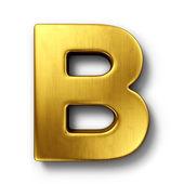 Bokstaven b i guld — Stockfoto