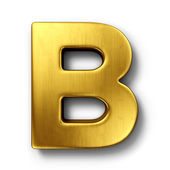 The letter B in gold — 图库照片