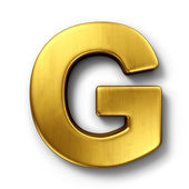 The letter G in gold — Stock Photo