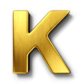 The letter K in gold — Stockfoto