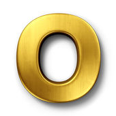 The letter O in gold — 图库照片