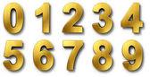 Nnumbers i guld — Stockfoto
