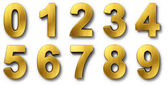 Nnumbers in gold — Stockfoto