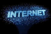 Fiber optic - internet — Stock Photo