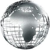 Africa in metal — Stock Photo