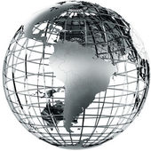South America in metal — Stock Photo