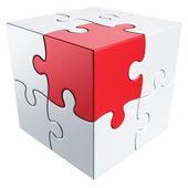 Quebra-cabeça cúbica — Foto Stock