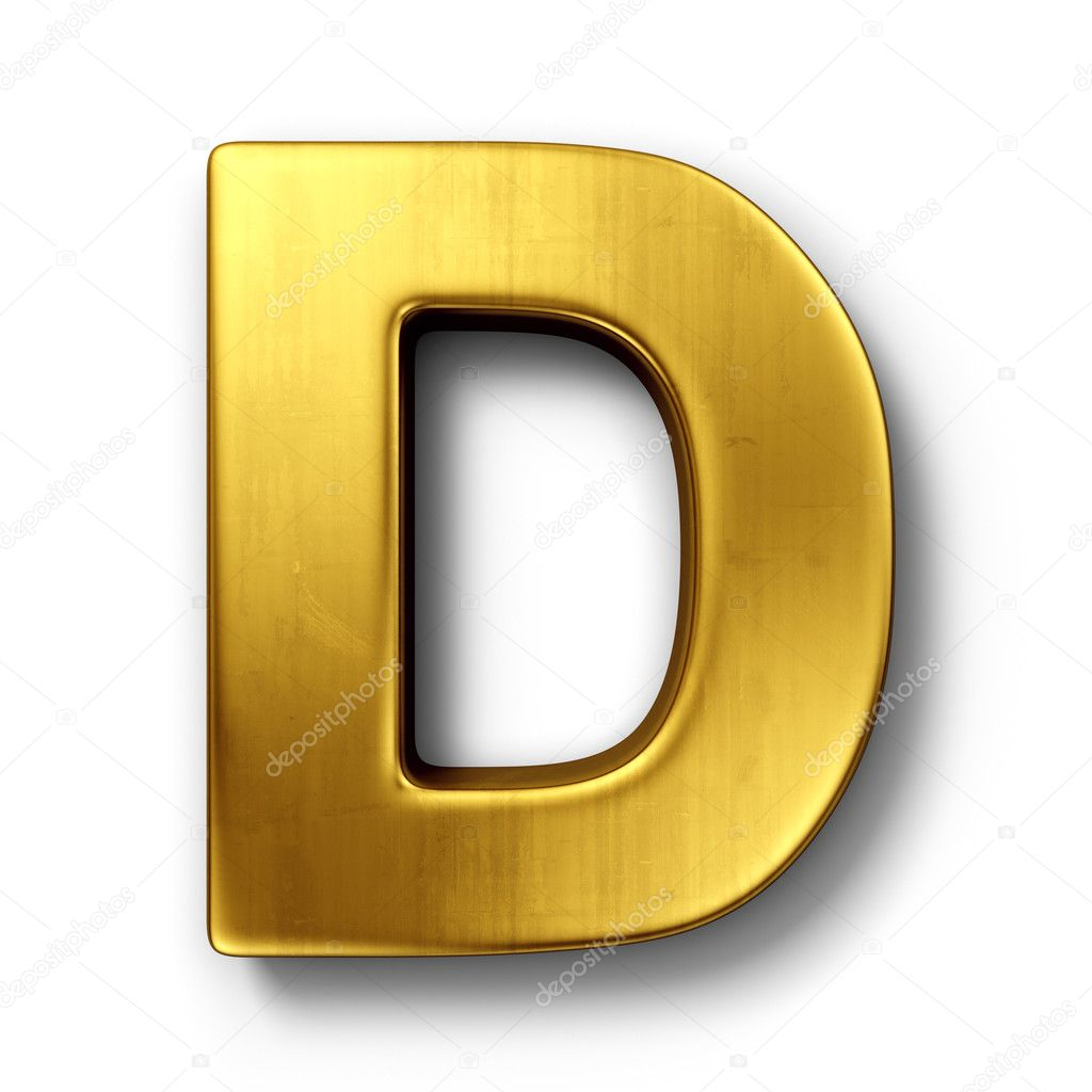 The Letter D In Gold Stock Photo Zentilia #8292942