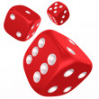 Dices in mid air — Stock Photo