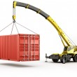 Heavy shipping container — Stock Photo #8318583
