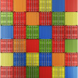 Shipping containers in a grid - Foto Stock