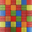 Shipping containers in a grid - Stock Photo