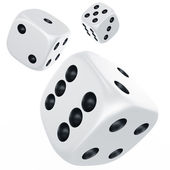 Dices in mid air — Stockfoto