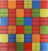 Shipping containers in a grid — Stockfoto