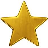 Zlatá hvězda — Stock fotografie