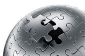 Esfera de quebra-cabeça — Foto Stock