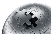 Puzzle sphere — Stock Photo