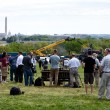 Waiting for Space shuttle Discovery, to fly over the Wash — Stock Photo