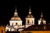 San Lorenzo de El Escorial Monastery , Spain at Night — Stock Photo