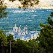San Lorenzo de El Escorial Monastery From Above — Stock Photo