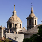 ������, ������: San Lorenzo de El Escorial Monastery Spires Spain on a Sunny Day