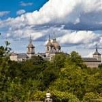 San Lorenzo de El Escorial Monastery Spires , Spain on a Sunny Day — Stock Photo