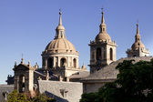 San Lorenzo de El Escorial Monastery Spires , Spain on a Sunny Day — Stock Photo