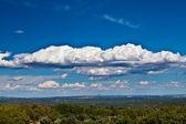 View of Madrid, Spain from San Lorenzo de El Escorial — Stock Photo