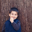 Shy Smiling Little Boy — Stock Photo
