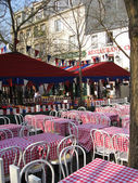 Cafe Place du Tertre, Montmartre — Stock Photo