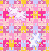 Seamless wall-to-wall autism puzzle pattern — Stock Vector